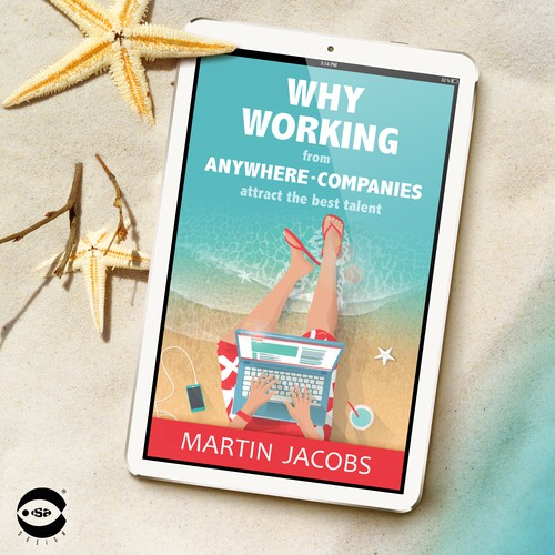 "eBook cover for ""Why working from anywhere-companies attract the best talent"" by Martin Jacobs"