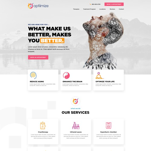 Longevity and wellness website design