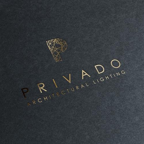 Create a luxurious logo for Privado.