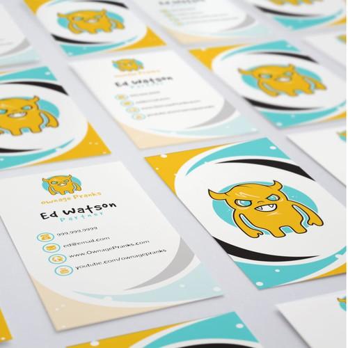 Ownage Prank Business Card Design