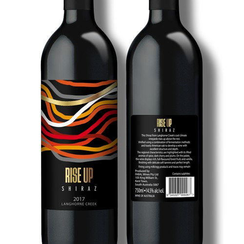 Wine Label for RISE UP