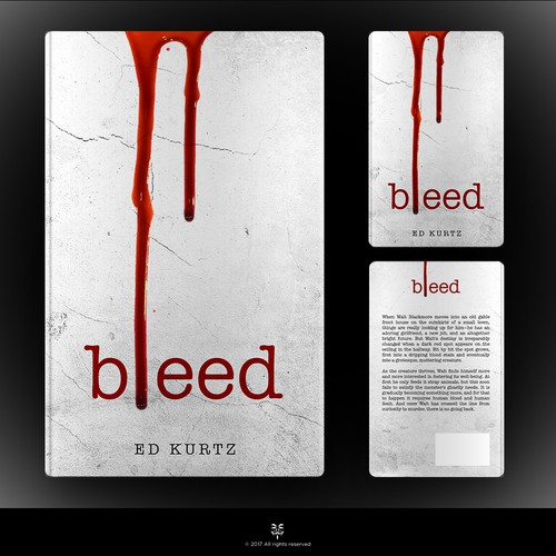 Simple, Crisp, Bloody - Horror Book Cover