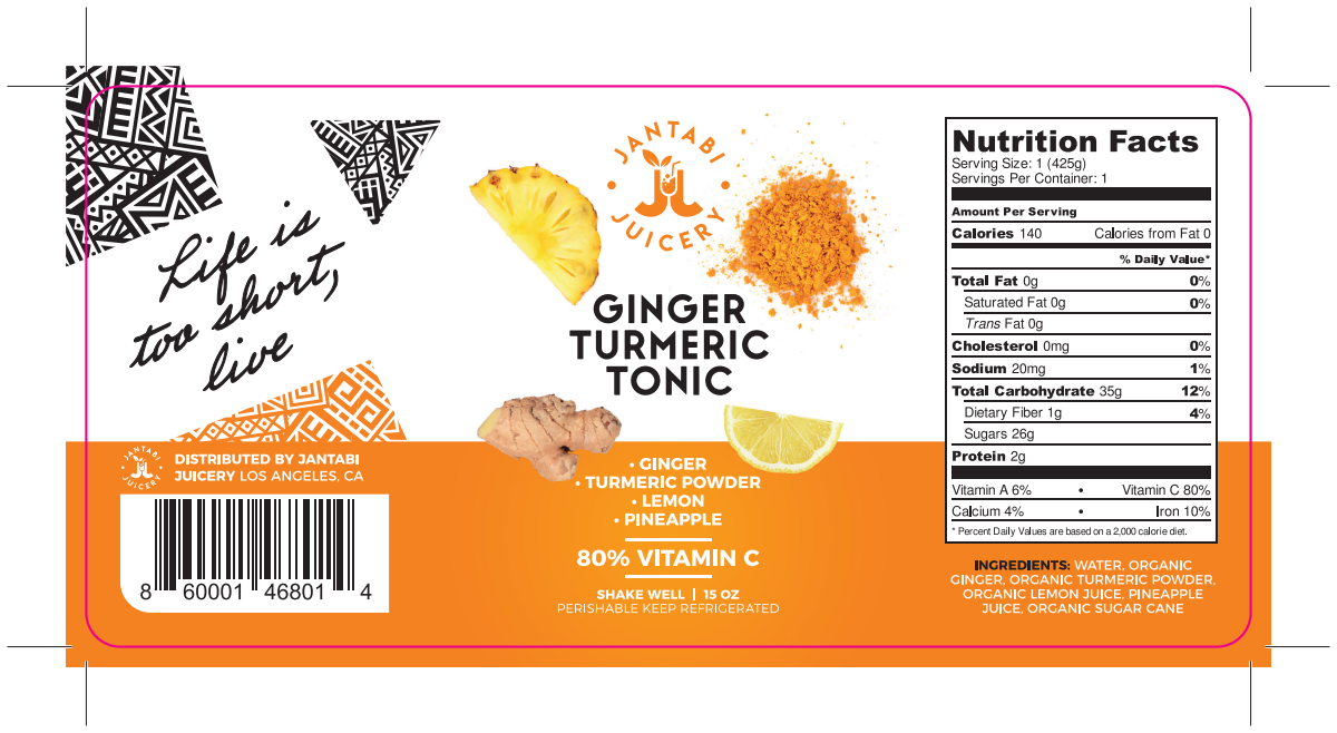 PRODUCT LABEL FOR ORGANIC JUICE COMPANY