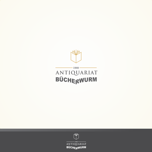 Simple logo for an antique book store