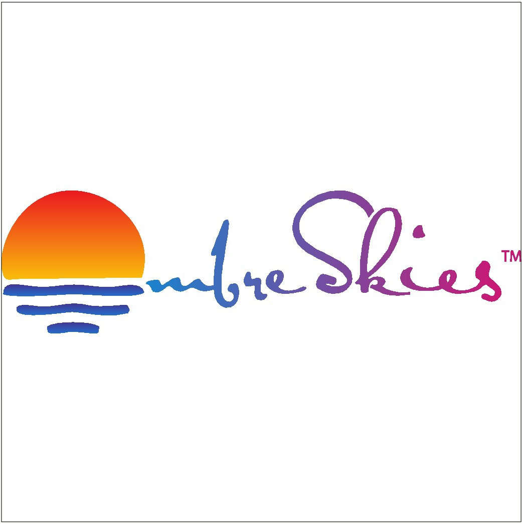 Design a beautiful Logo for Ombre Skies, with a color gradient