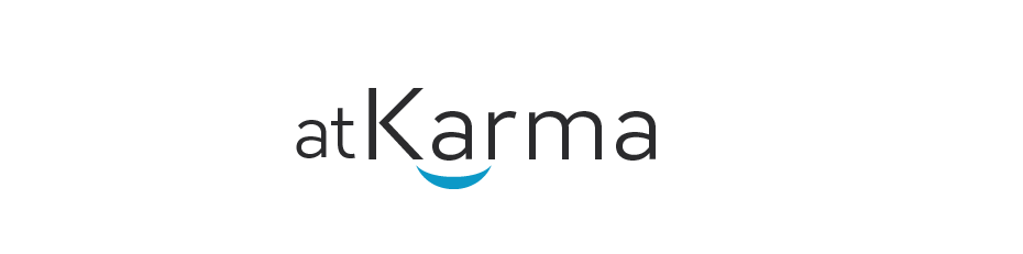 logo for *AtKarma* it's a place for good --> will need follow-on work