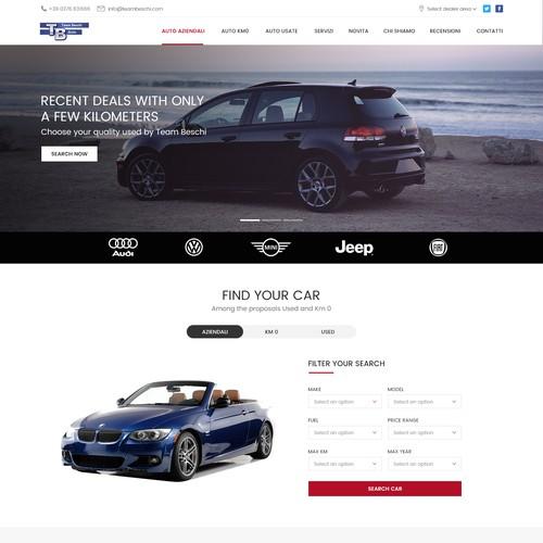 Landing Page Design Concept for TeamBeschi.com
