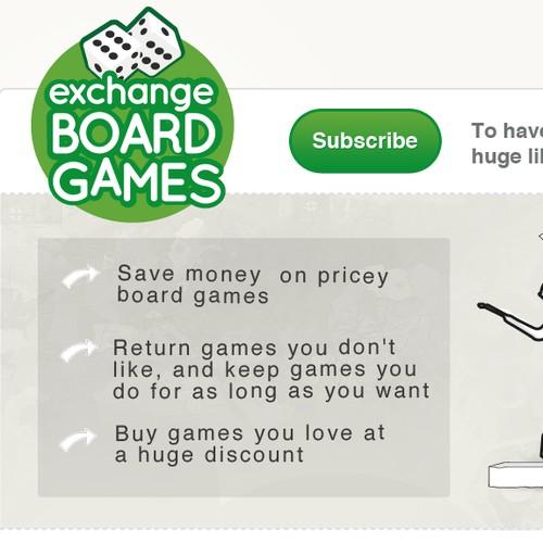 website design for ExchangeBoardGames.com