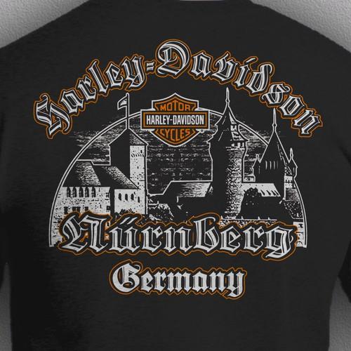 t shir design for Harley Davidson Nürnberg