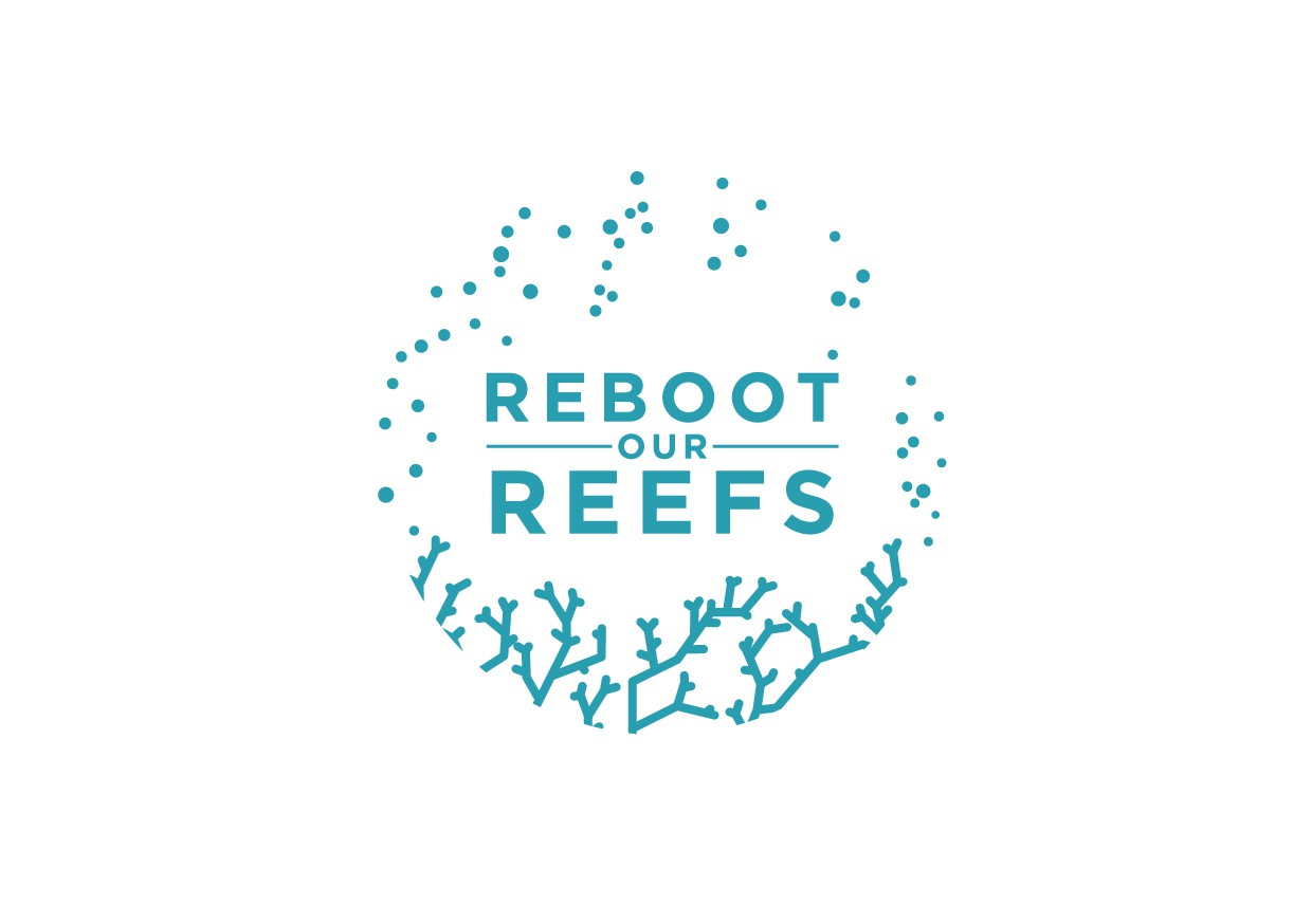 A logo that illustrates a flourishing coral reef