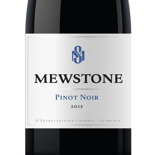 Mewstone Vineyard Tasmania - Label