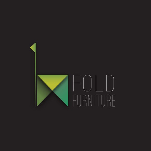 Abstract Logo for sustainable folded cardboard furniture product