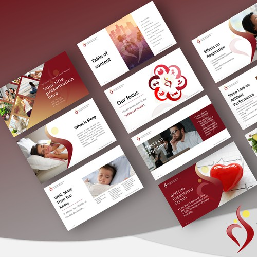 Presentation for a health and wellness company.