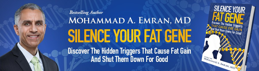 Design a website header banner based off of previous book cover design for Silence Your Fat Gene book.