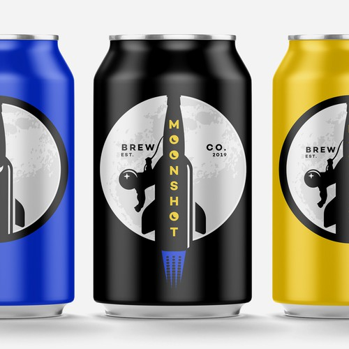 Logo and label for Moonshot Brew Co.