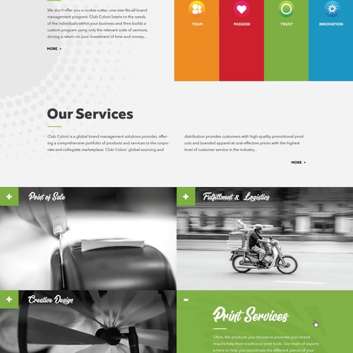 Ad agency website design