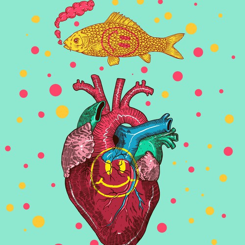 A HEART AND A FISH