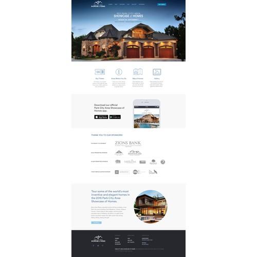 Website design for home showcase / parade