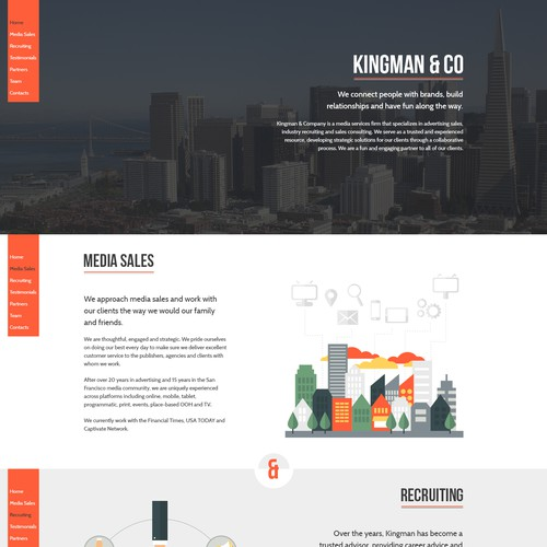 Creative & modern scrolling website for a San Francisco media services small business