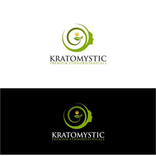 Create a botanical logo for Kratomystic