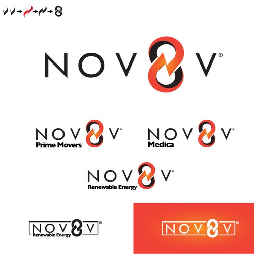 nov8v logo design
