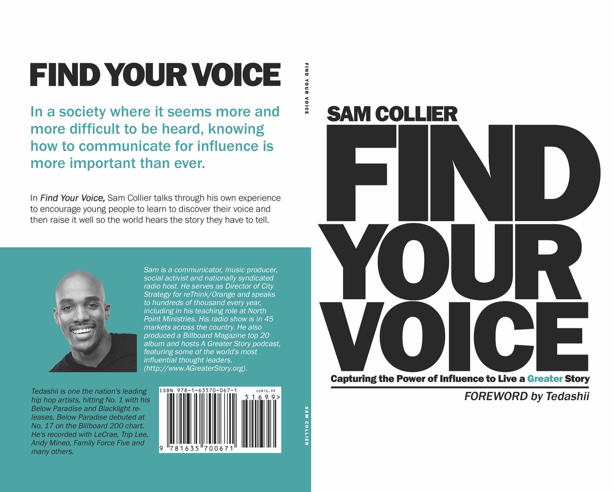 Find Your Voice Interior design and formatting