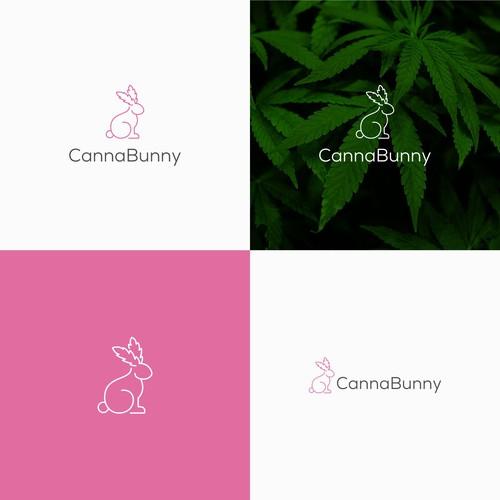 Cute & Feminine logo for Canna Bunny