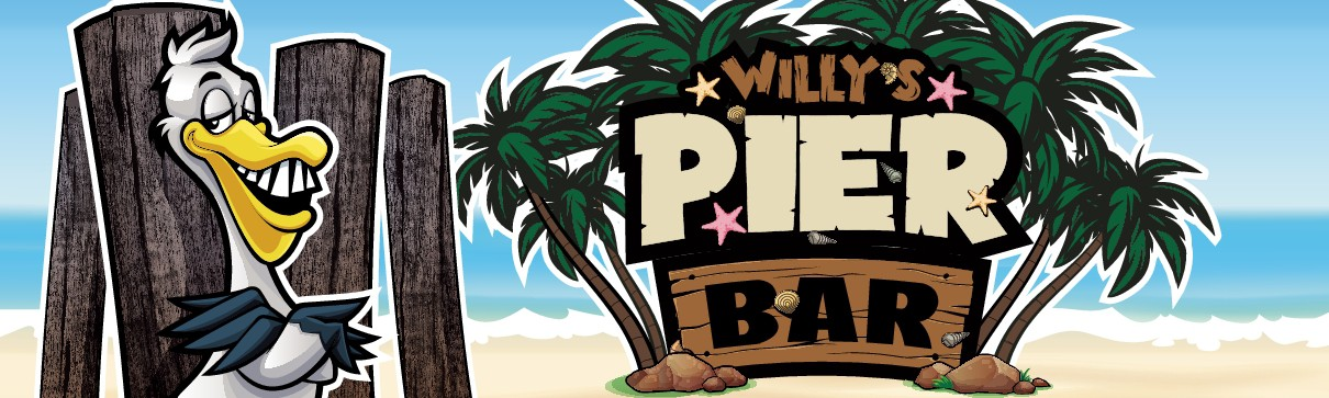 Willy's Pier Bar Sign