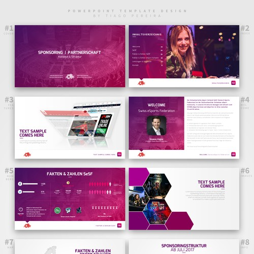 PowerPoint Template Design Concept For Consulting Agency