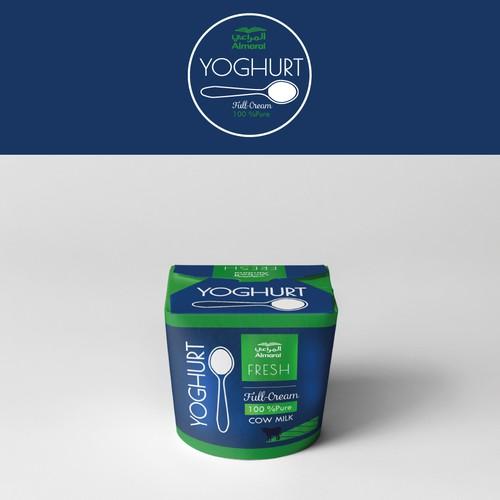 Yoghurt Almarai Package