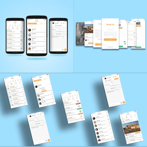 Industrial App for job listing and messaging.