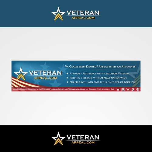 Logo and wordpress banner design for veteranappeal.com