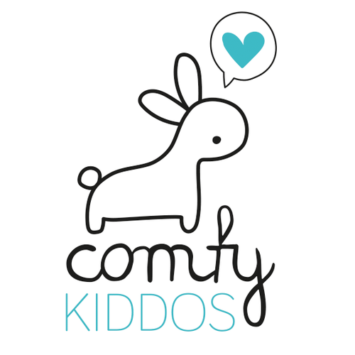 Cute bunny logo design for a kids clothing manufacturer