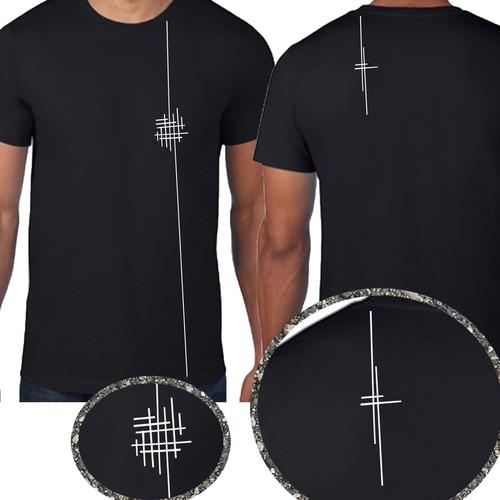 Minimal illustrative tshirt design need for unisex acting group