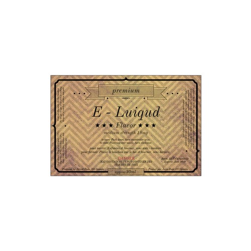 Labels e-liquid Premium line