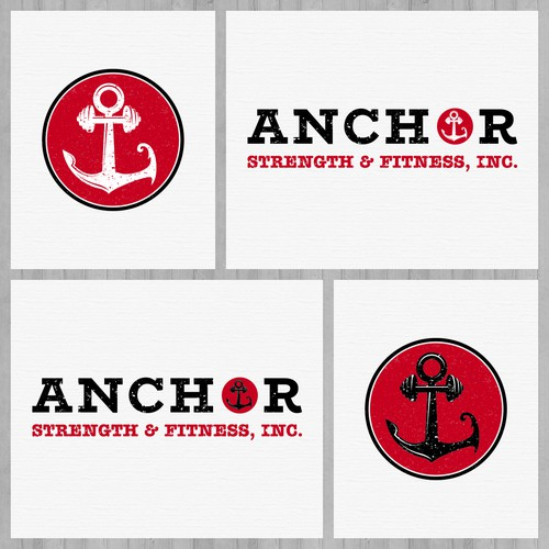 Anchor Strength and Fitness - Logo and Social Media Pack