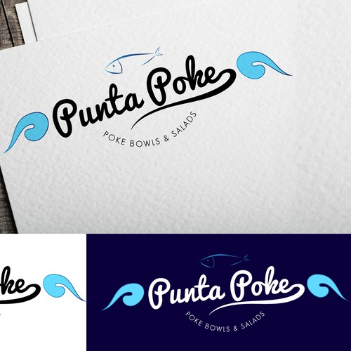 logo for fast-casual restaurant that offers poke bowls in an upper class beach town