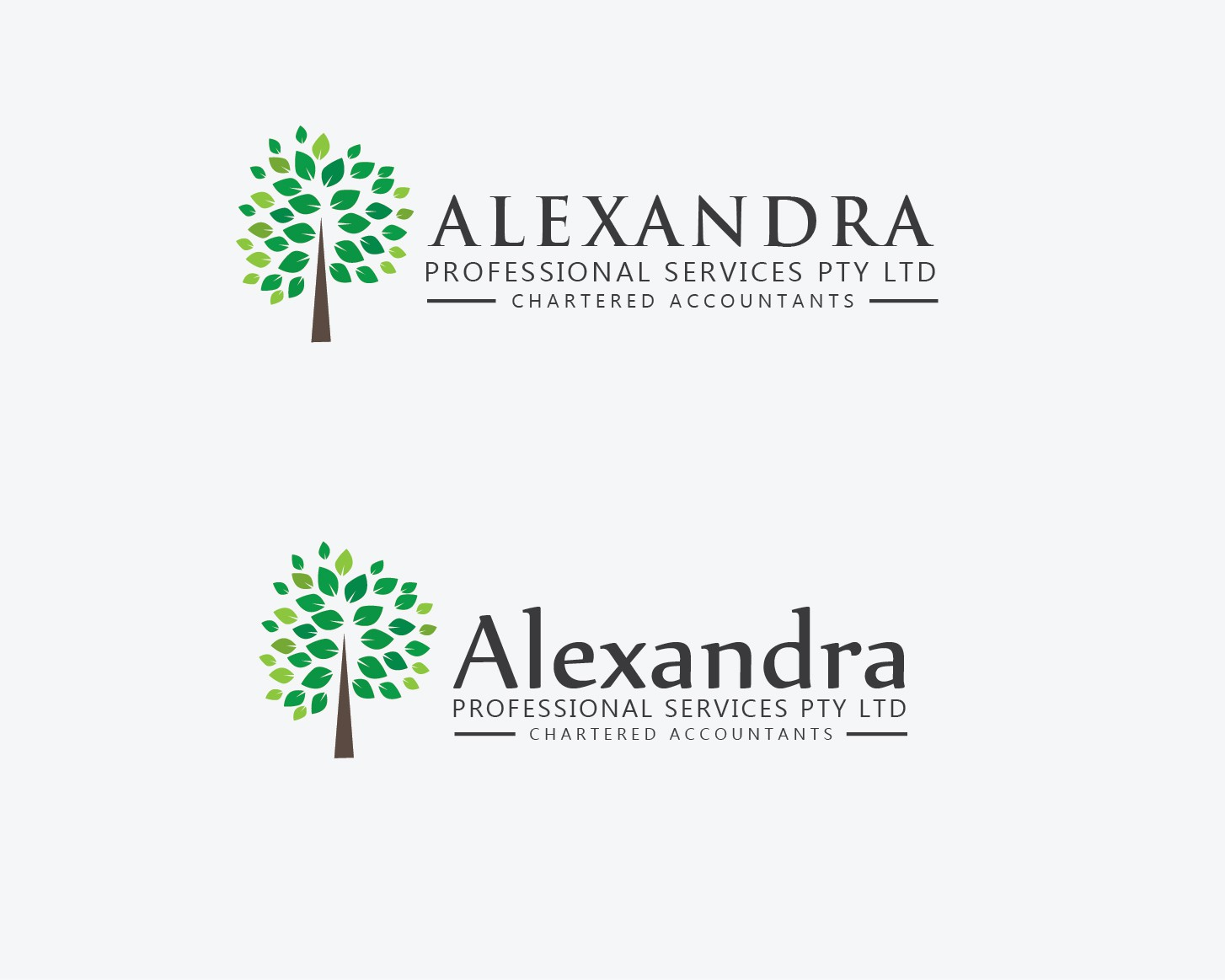 Help Alexandra Professional Services Pty Ltd - Chartered Accountants with a new logo and business card