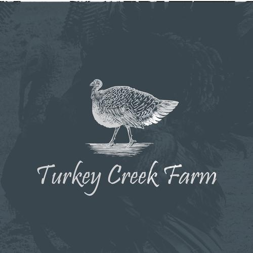 Logo design for Turkey Creek Farm.