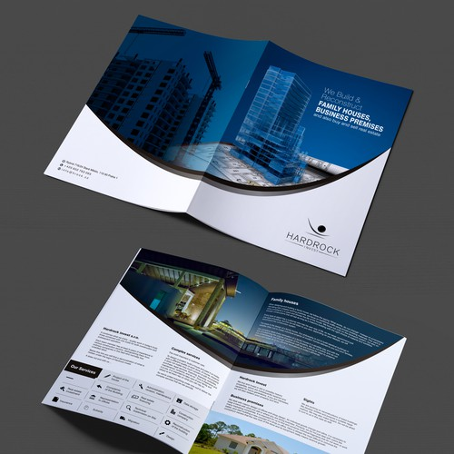 brochure for construction company