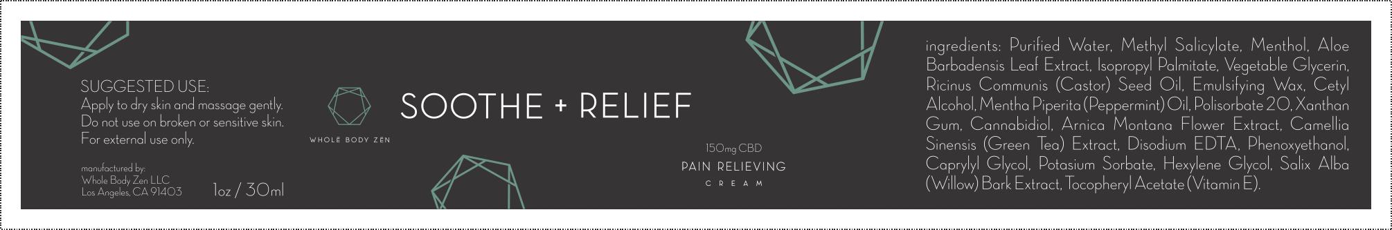 whole body zen seeks label design for pain relief cream