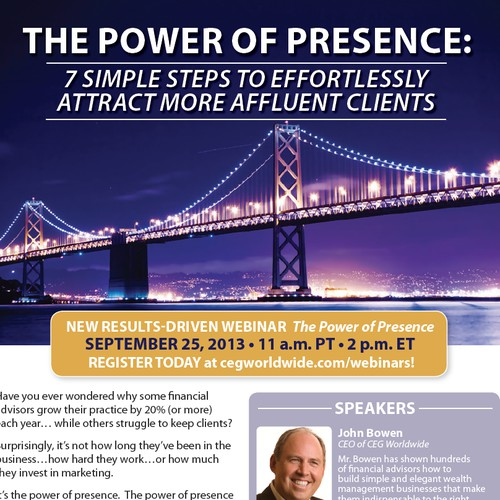 Webinar Flyer: The Power of Presence