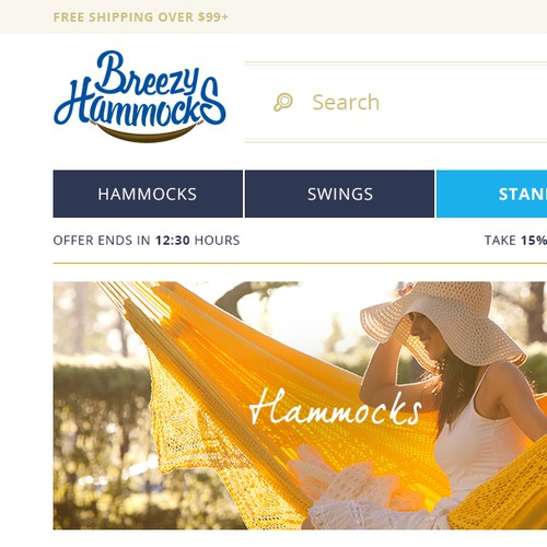 E-commerce Homepage Design Concept
