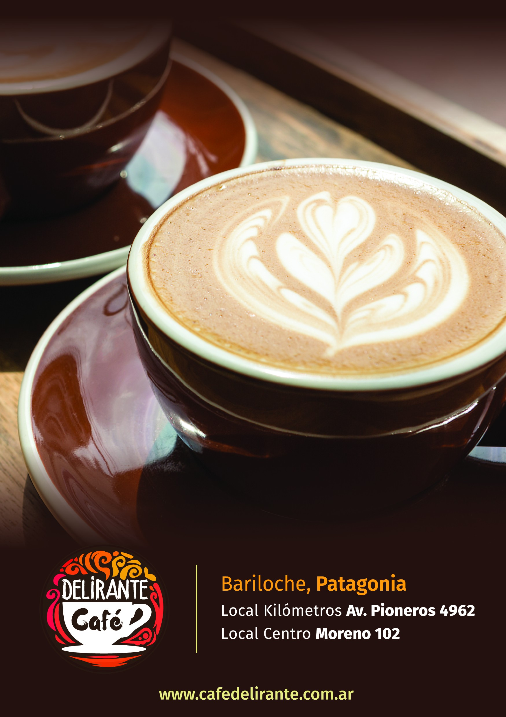 Flyer for Coffeeshop in Patagonia.