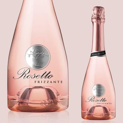 Wine label design for Rosetto Wine