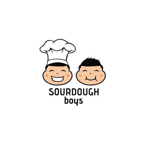Couple Fat-Faced logo for Sourdough Boys