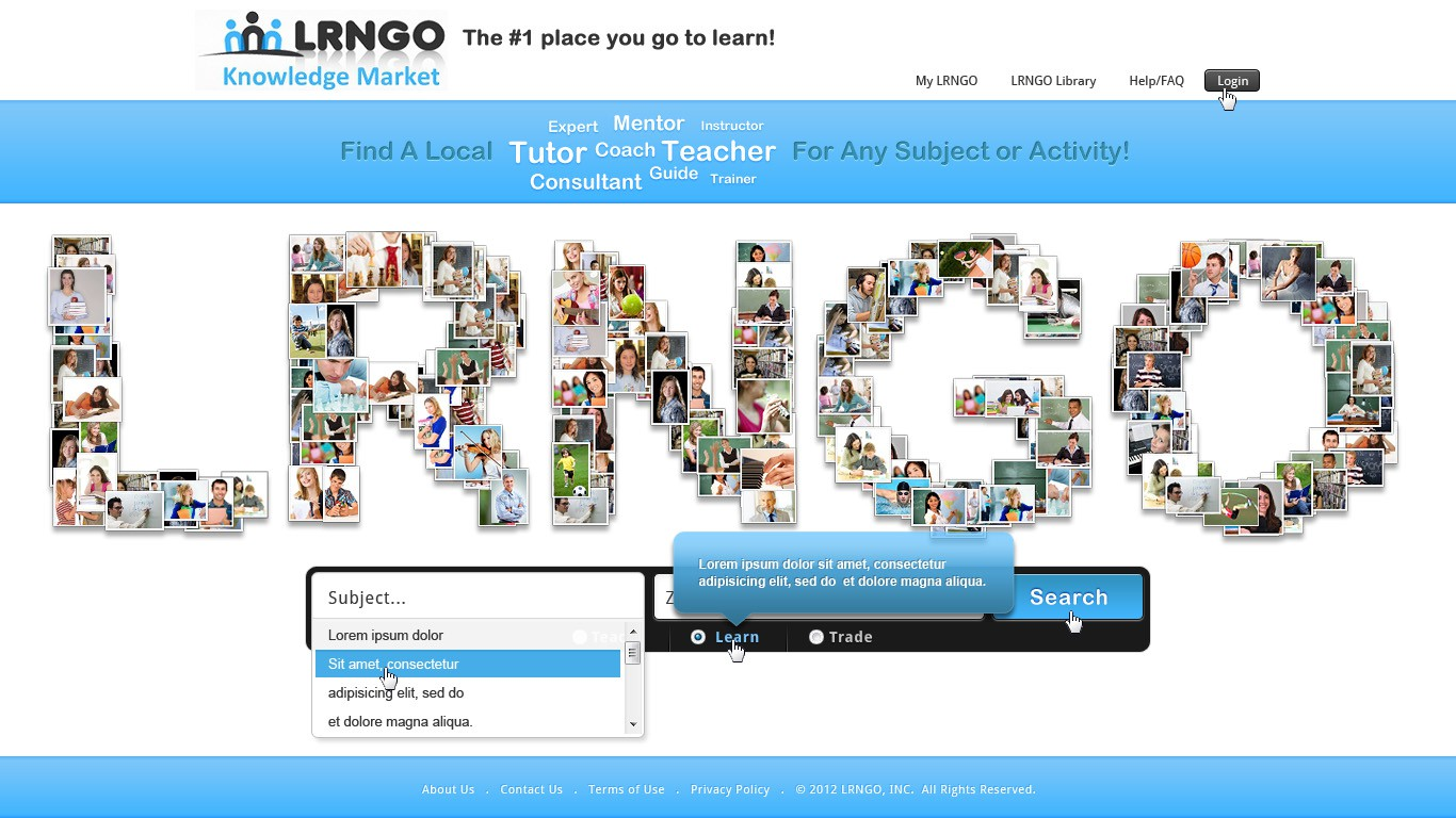 Homepage Design For Cool Social Learning Website