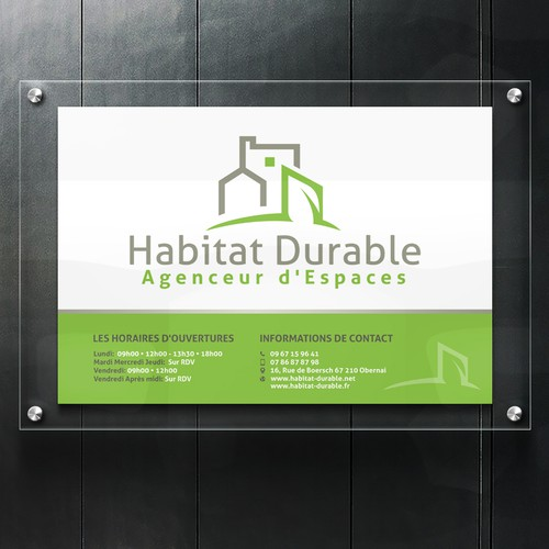 Welcome Poster for Habitat Durable Agenceur d'Espaces