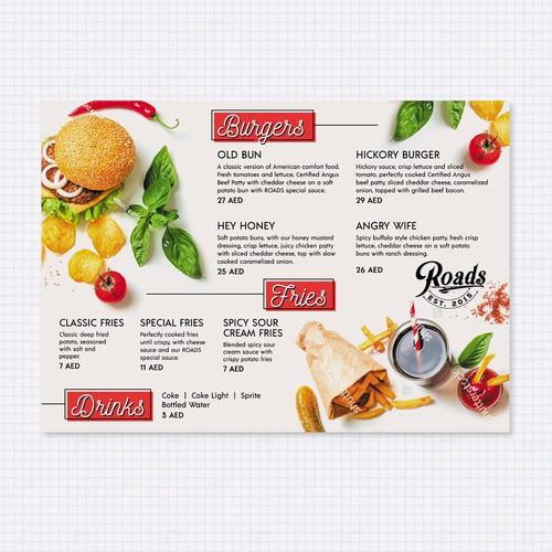 Clean and Modern menu design