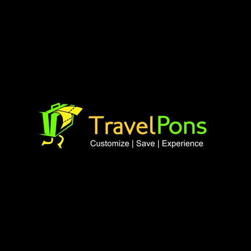 funny logo concept for travel agents